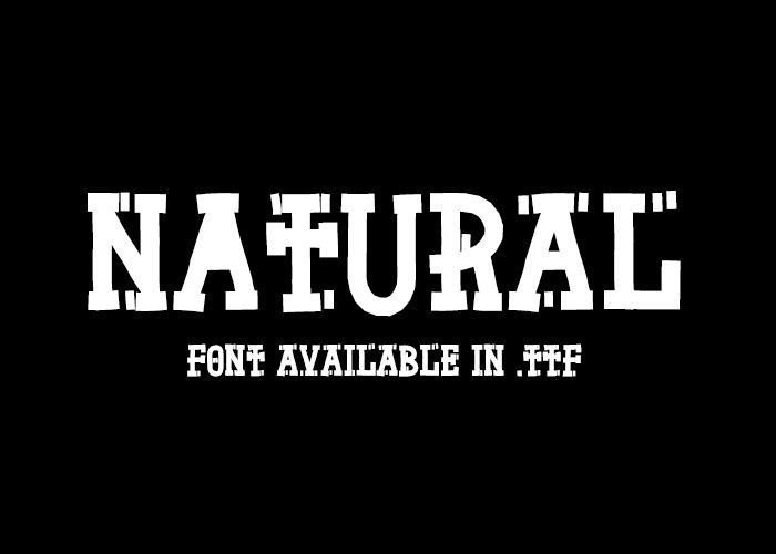 Natural Born Designer - font