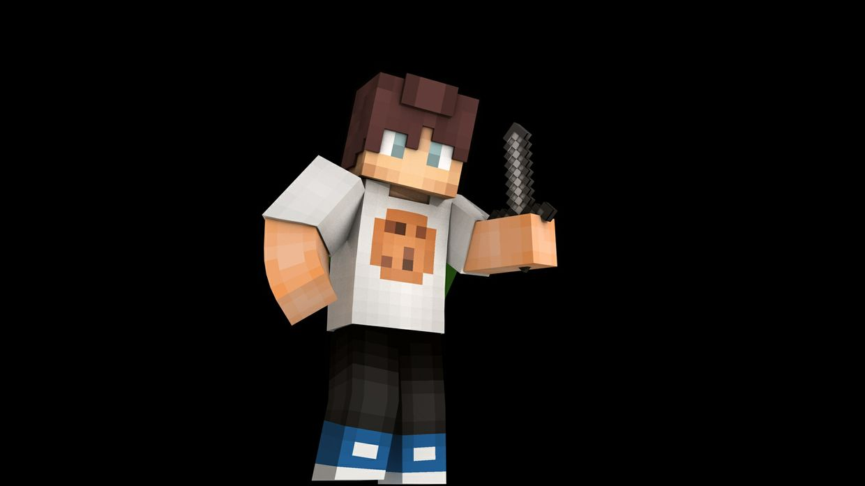 3D extruded render of your skin (3 renders)