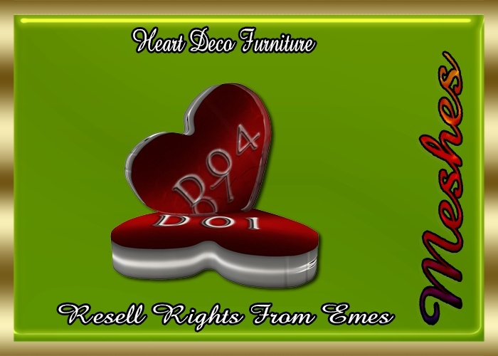 Heart Decor Furniture Catty Only!!!