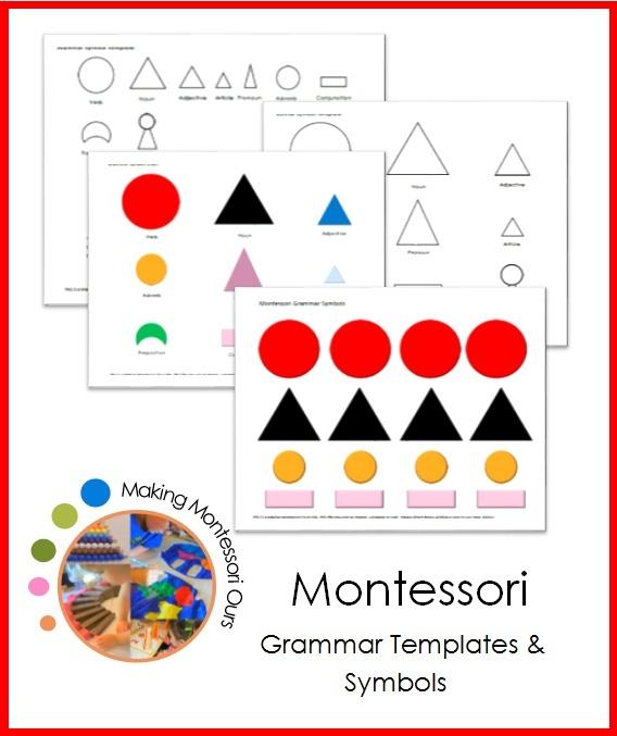 Montessori Grammar Symbols & Templates   Cherine Muirhead