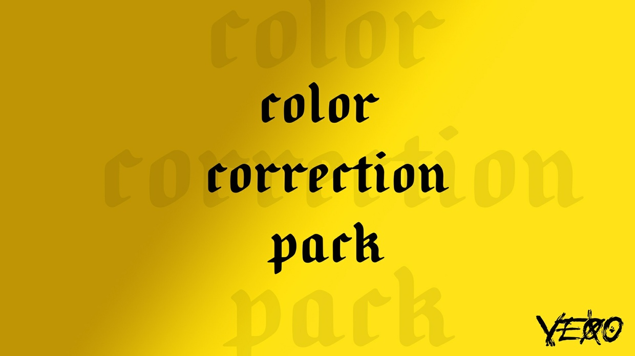 COLOR CORRECTION PACK