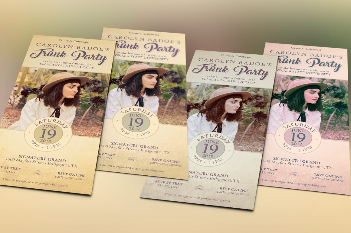 Retro Trunk Party Flyer Template