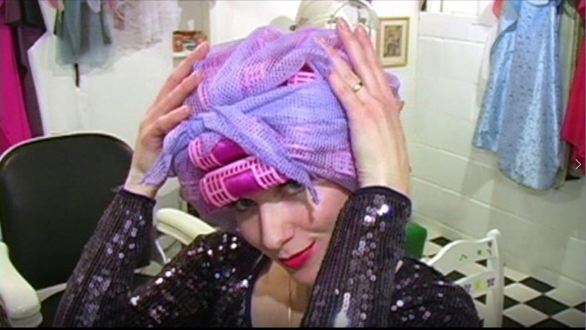 Kat's Roller Set Pink Wig under the Dryer - VOD Digital Video on Demand