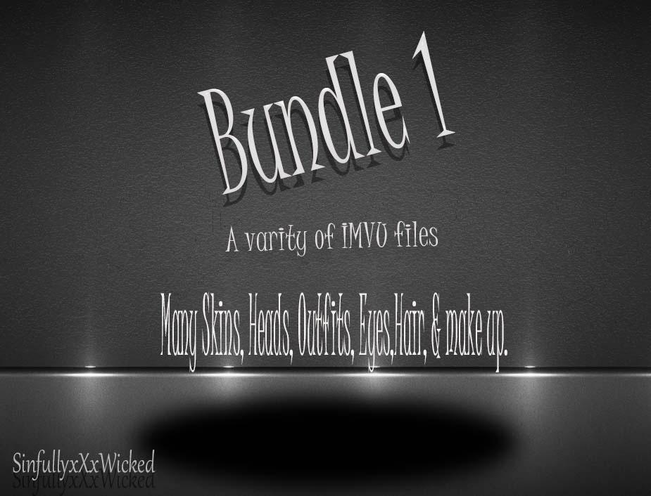 Bundle 1 (IMVU Skins,Outfits,Hair,Heads,Eyes & Make up included)