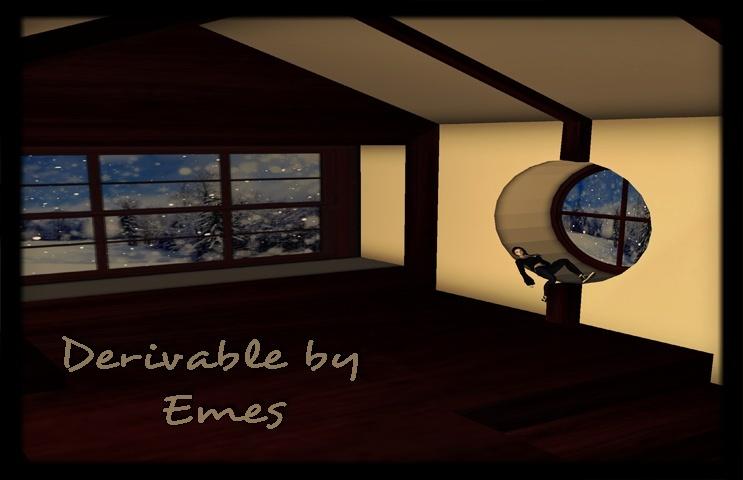 Mesh-Fireplace Loft Room