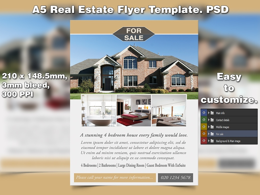 Real Estate Flyer Template (PSD)