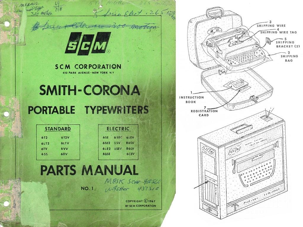 1967 Smith-Corona Portable Parts 1