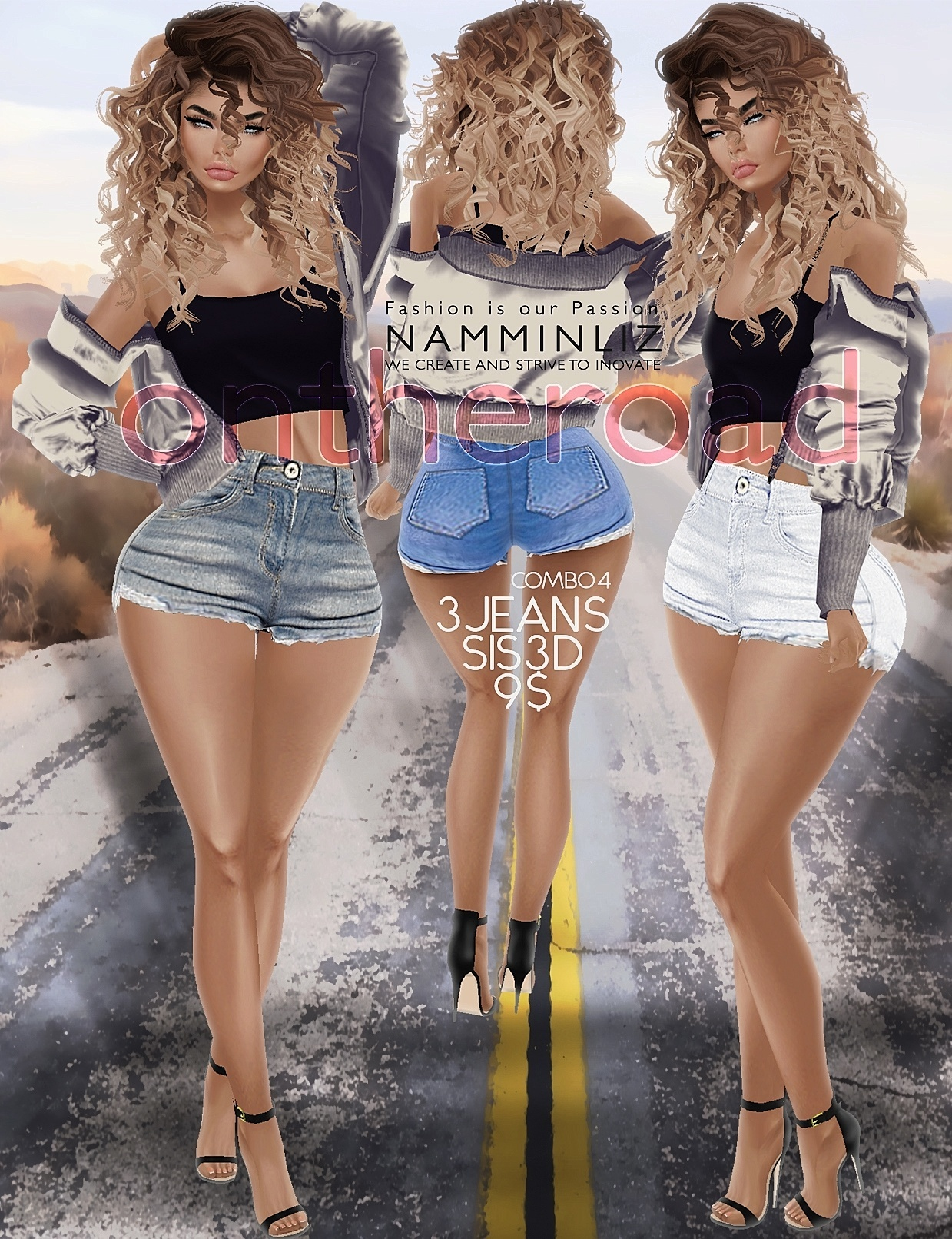 ontheroad combo4 / 3Jeans Sis3d PNG RLL RLLS RL