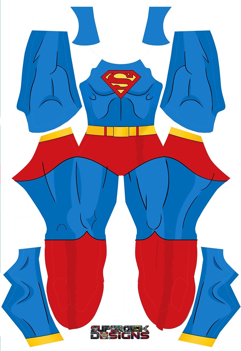 SUPERMAN OLD SCHOOL COMIC style pattern file