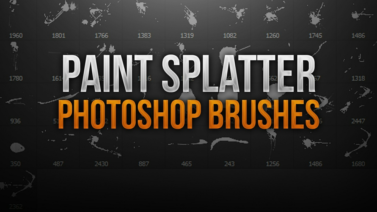 Paint Splatter Photoshop Brush Pack