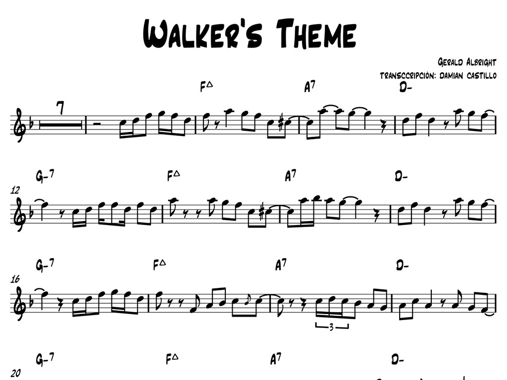 "Gerald Albright - ""Walker's Theme"" - Sax alto."