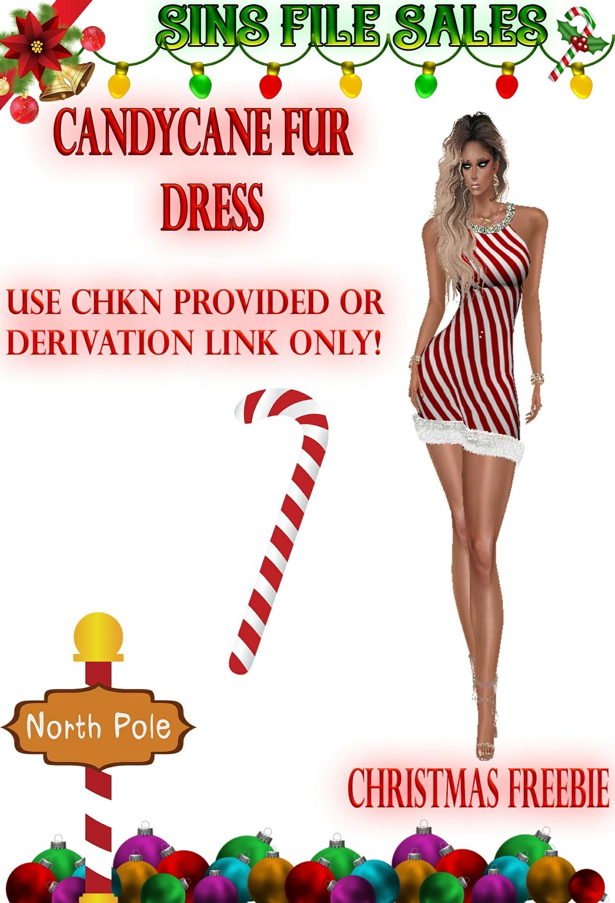 Candycane Dress Freebie