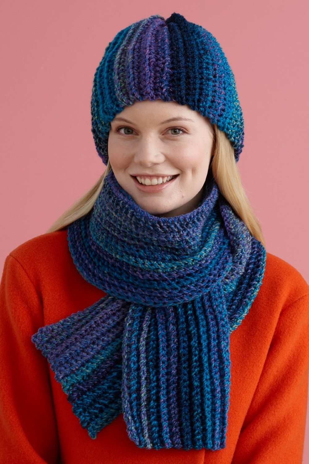 Easy Painted Yarn Hat & Scarf