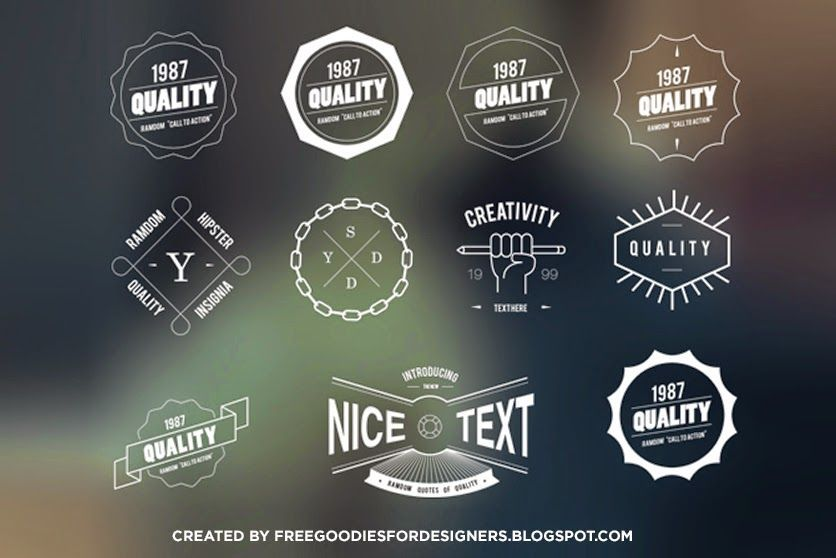 FREE HIPSTER BADGES & INSIGNIAS in VECTOR