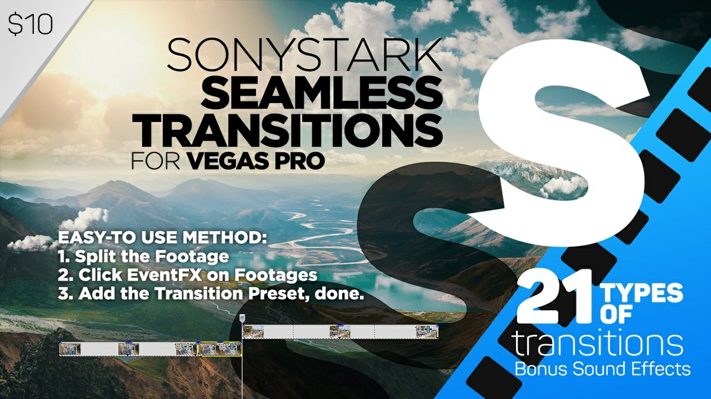 SONYSTARK Seamless Transitions Preset Pack for Vegas Pro