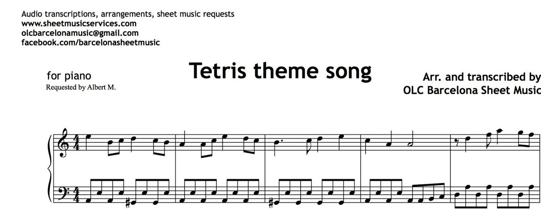 Piano easy piano sheet : Tetris Theme (Easy Piano) - Sheet Music | My Sheet Music ...