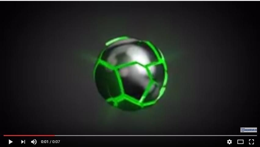 """Logo Video Intro """"zerbrechende Kugel"""" mit Deinem Logo"""