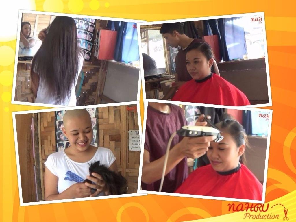 """BALD#001 """"Happy Woman Gets Headshave in Barbershop"""""""