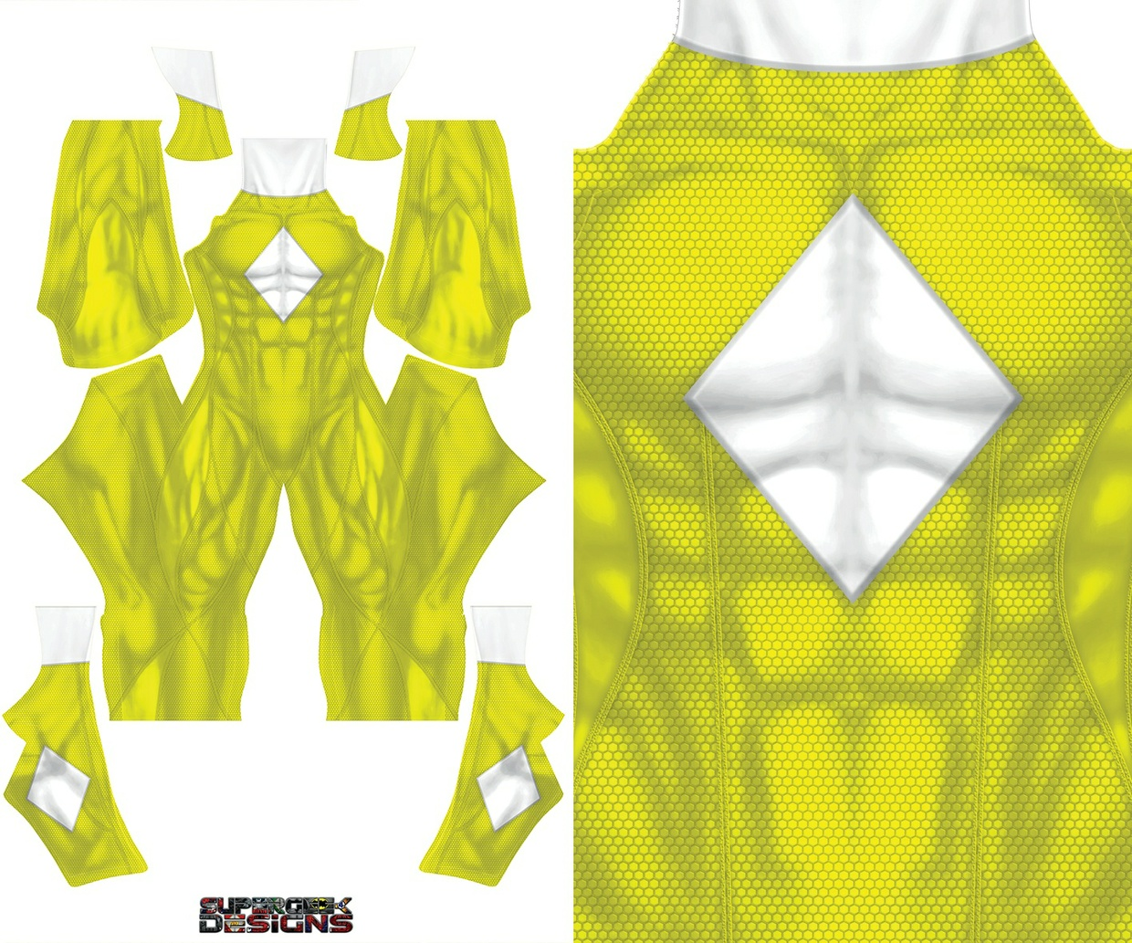 YELLOW RANGER CONCEPT  MALE pattern file
