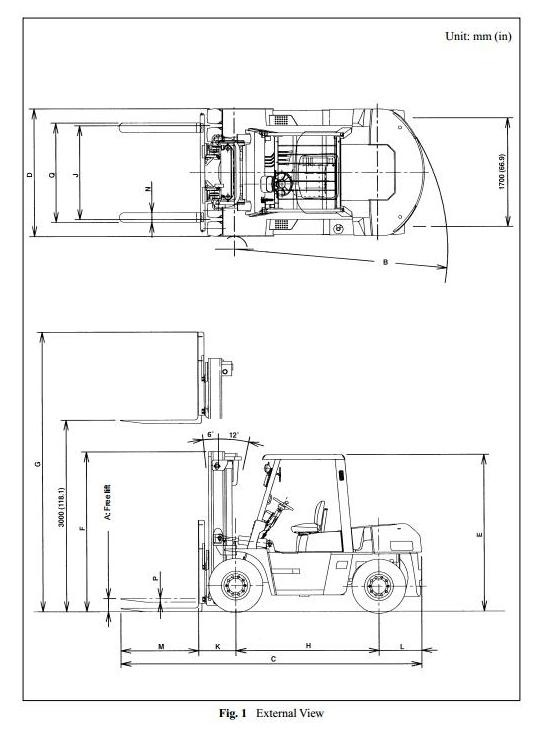 Nissan Diesel Forklift Truck 1F6: 1F6F60U, 1F6F70U, 1F6F80U with 6BG1 engine Service Manual