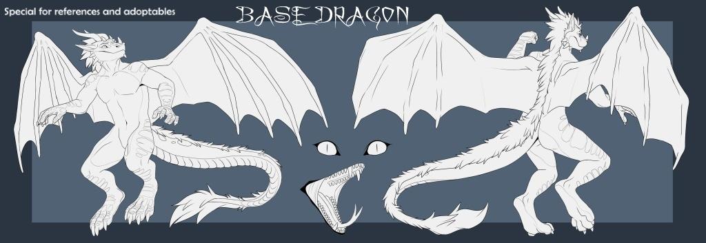 BASE DRAGON (Anthro Male)