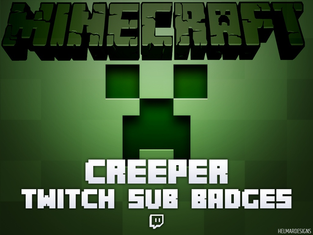 Minecraft Creeper Twitch Subscriber Badges