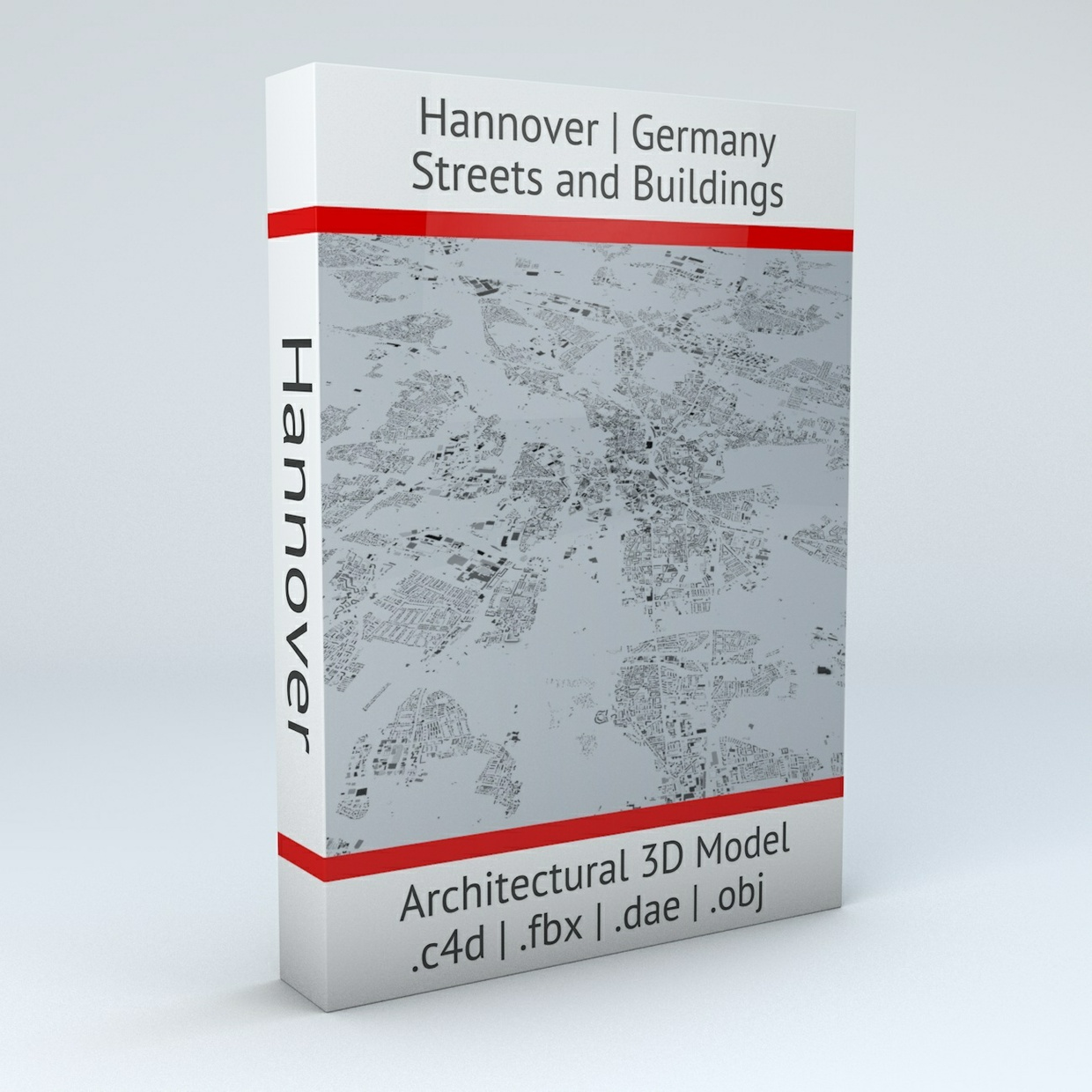 Hannover Streets and Buildings Architectural 3D Model