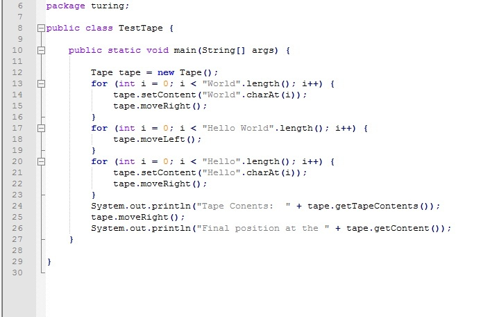 Tape for a Turing Machine using Doubly-linked List in Java with full source code