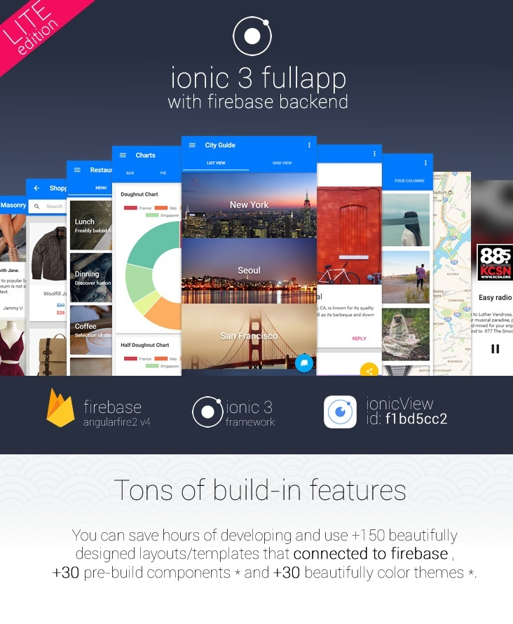 ionic 3 fullapp with firebase backend LiteEdition