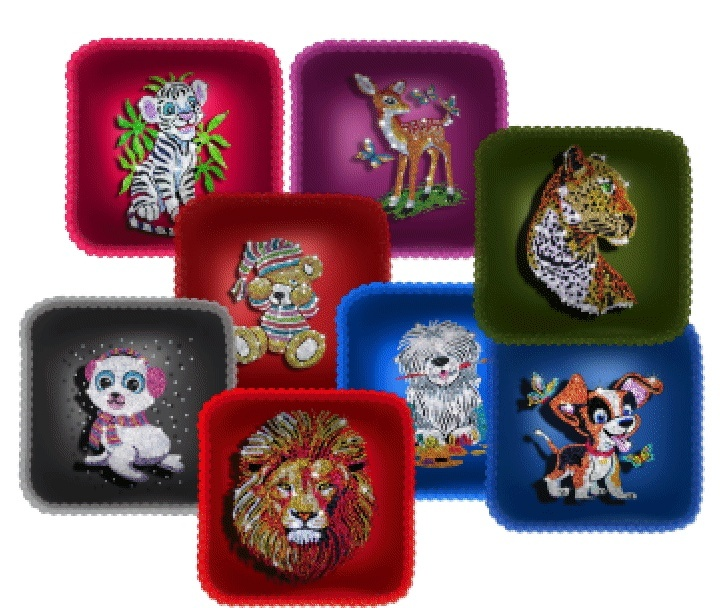 Gimp Glitter  Animal Cushions