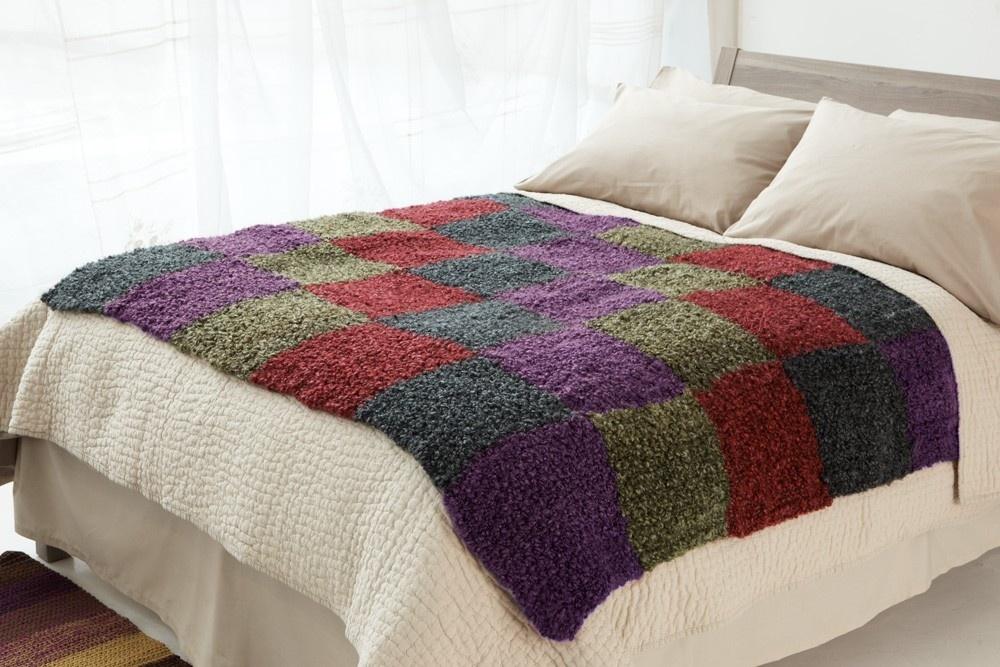 Crochet Checkerboard Throw