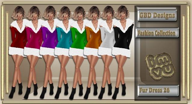 Fur Mini Dress 27 CATALOG ONLY!!