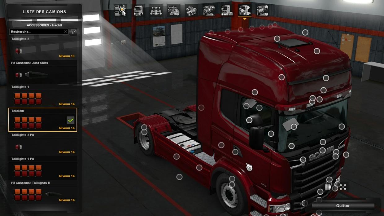 Back Bar For Scania Rjl RS Topline ONLY