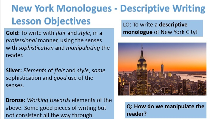 york monologues descriptive writing new york monologues descriptive writing