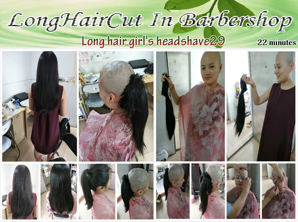 Long hair girl's headshave29