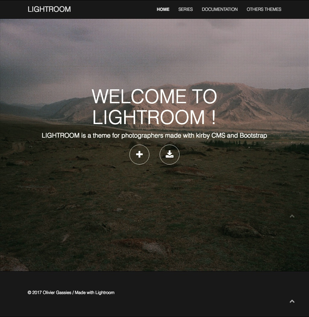LIGHTROOM theme for Kirby cms