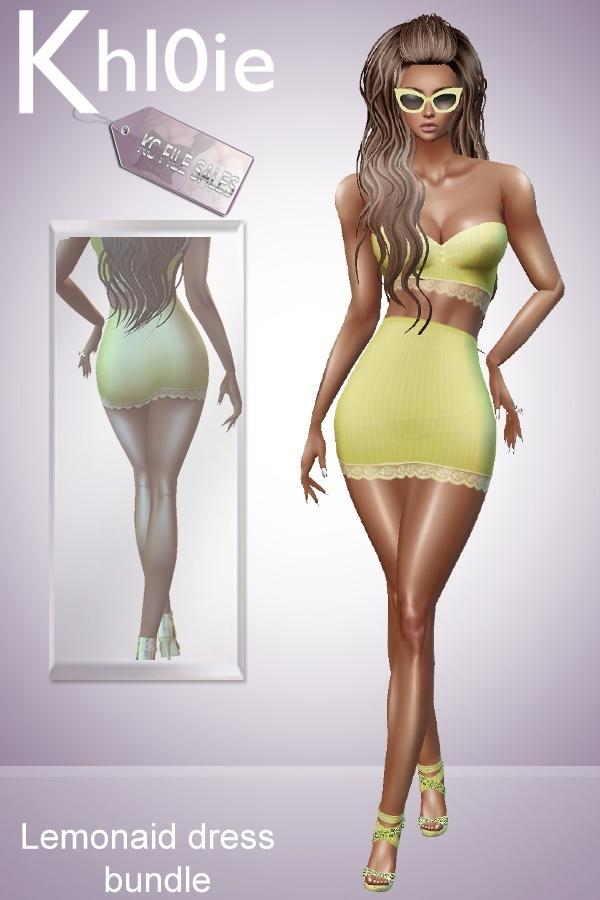 Lemonade Dress , heels , sunglasses