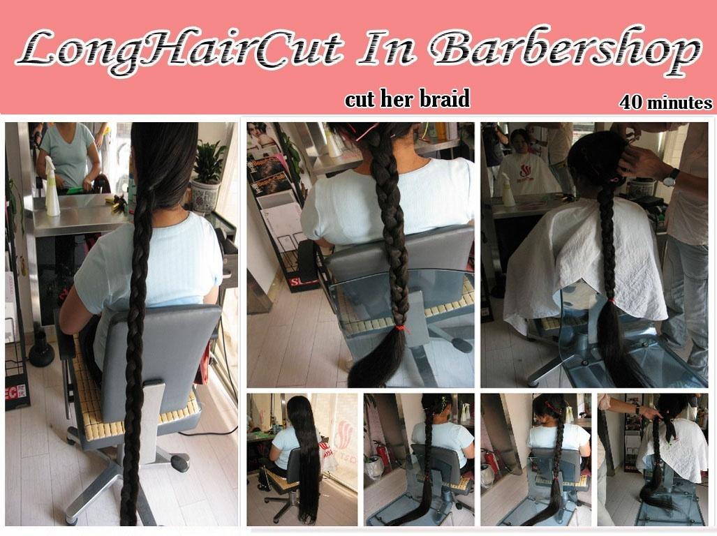 cut her braid
