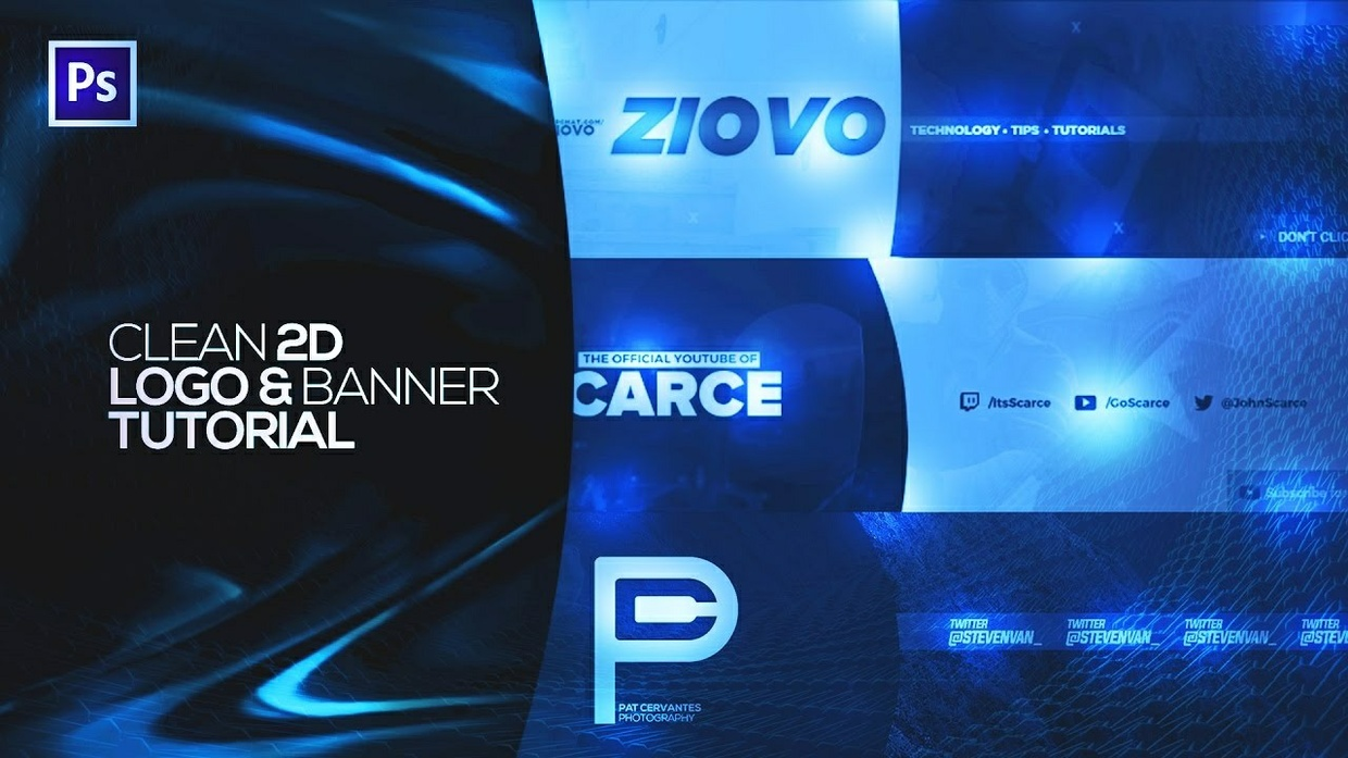 FREE 2D YouTube Banner Template!