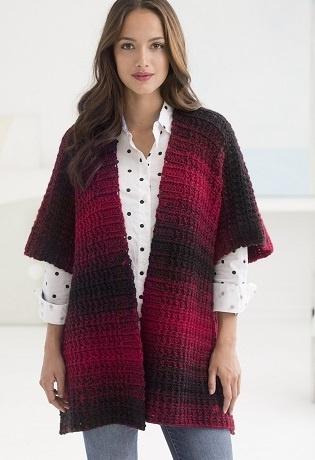 Scarfie Crochet Ruana