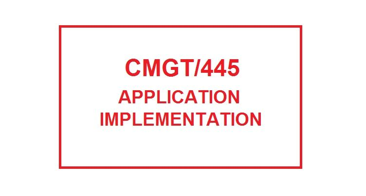cmgt 445 week 3 implementation plan For more course tutorials visit wwwuoptutorialcom cmgt 445 week 3 individual assignment article review select a recent peer-reviewed article, no more.