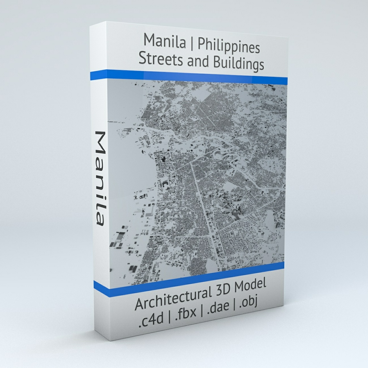 Manila Streets and Buildings Architectural 3D Model