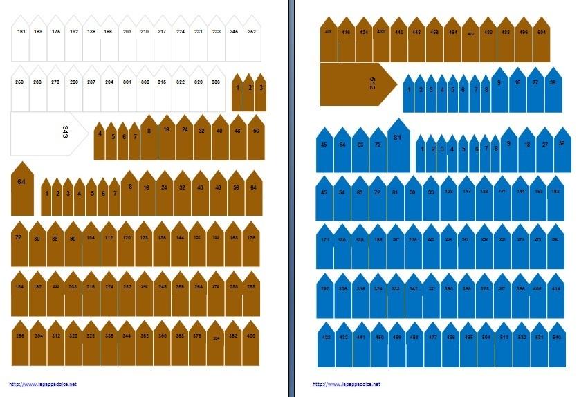 frecce per contare le perle colorate Montessori a colori - ARROWS FOR MONTESSORI CHAINScolored
