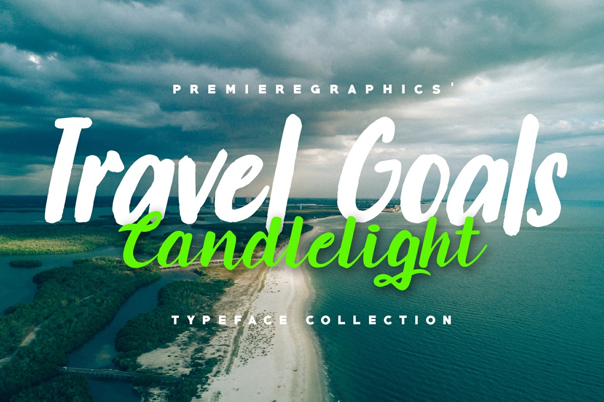 Travel Goals and Candlelight - Typeface Collection