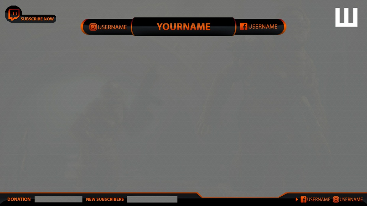 Twitch & Youtube Overlay FULL HD