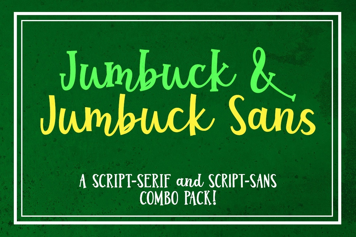 Jumbuck & Jumbuck Sans: a font combo!