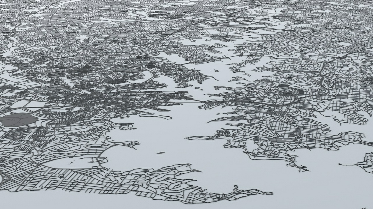 Sydney Road Network Architectural 3D Model