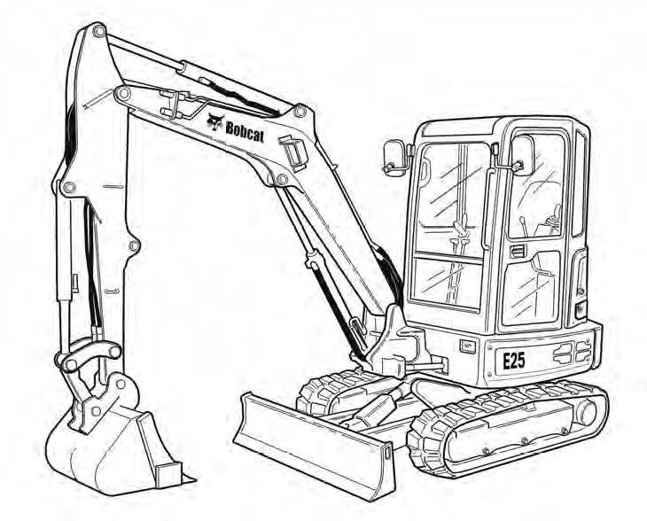 Bobcat E25 Compact Excavator Service Repair Manual Download(S/N AB8B11001 & Above)