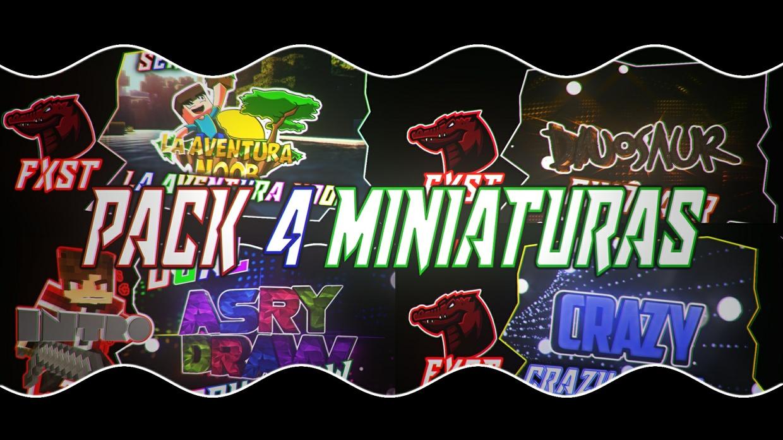 PACK DE 4 MINIATURAS