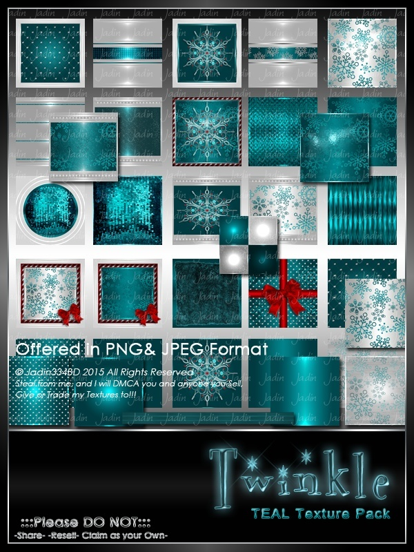 Twinkle:  TEAL Texture Pack-- $6.00